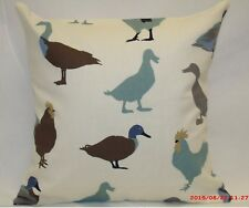 "2 x modern Cushion covers,""Ducks"" 100% cotton,16""x16"""