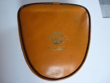 VINTAGE LARGE LEATHER PIGSKIN REEL CASE, J.W. YOUNG AND SONS