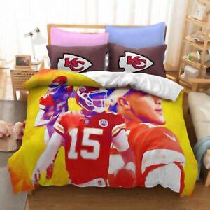 Kansas City Chiefs Quilt Cover 3PC Bedding Set Duvet Cover Cover Pillowcase Gift