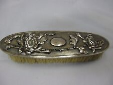 Chinese Export hallmarked silver clothes brush / Kleiderbürste China Silber