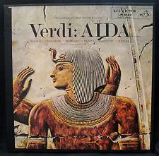 VERDI: AIDA Complete-3 LP BOX SET-RCA VICTOR #LM 6122 RED SEAL
