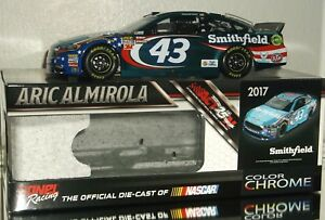 2017 ARIC ALMIROLA #43 SMITHFIELD COLOR CHROME 1/24 CAR#38/72 AWESOME LOOKING