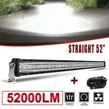 "52""inch 3900W LED Work Light Bar Combo Truck Offroad 4WD SUV UTV Boat Driving 50"