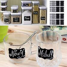 36pcs Small Chalkboard Chalk Black board Mason Jar Labels Sticker Tags Wholesale