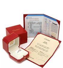 Cartier Diamond Platinum Round Solitaire Ring 0.33 ctw GIA Certificate Box