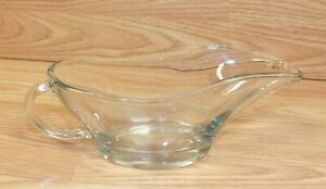 Anchor Hocking (10 oz) Large Glass Gravy Boat / Bowl With Handle (1028)
