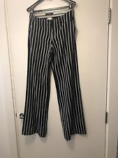 Weekend MaxMara Wide Led Chinos Culottes Trousers Pinstripes Pants