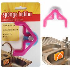 2 * Disipador esponja lavado de cocina de plástico titular ventosa limpiador de plato de pescado de fregadero