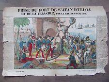 GRANDE IMAGE EPINAL 1880 PRISE DU FORT DE ST JEAN D'ULLOA ET VERA CRUZ 1838