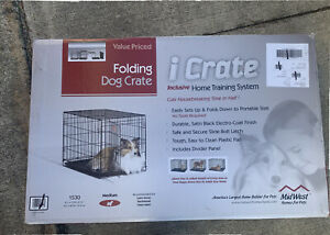 MidWest Single Door iCrate Folding Dog Crate