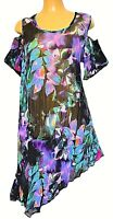 TS top TAKING SHAPE plus sz S - M / 18 Monsoon Tunic sheer cold shoulder NWT!