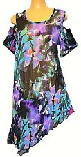 TS top TAKING SHAPE plus sz M / 20 Monsoon Tunic sheer cold shoulder NWT rrp$130
