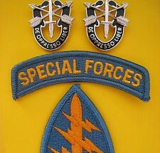 ORIGINAL U.S. SPECIAL FORCES GREEN BERETS SHOULDER PATCH & CREST BADGE S    -01