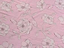 Bettüberwurf 170x285 rosa weiß Blumen, Grandcouvre Tagesdecke Sofaüberwurf
