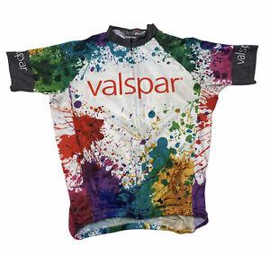 Mt Borah Valspar Paint Multicolor Short Sleeve Cycling Jersey Size L White USA