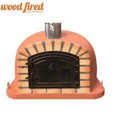 Wood fired Pizza oven 100cm Deluxe extra in terracotta with cast door