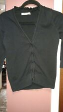 Old Navy Women's Small Petite Black Cardigan Sweater With Ruffles