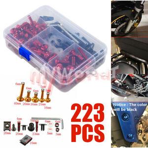 Fit For Suzuki GSXR 600/750/1000 SV650 DL1000 Complete Fairing Bolt Screws Kit