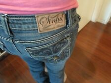SINFUL WOMENS JEANS BOOT TAG: 28 - ACTUAL SIZE 28X30 DESIGNER