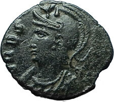 ANONYMOUS Genuine 337AD Authentic Ancient Roman Coin VRBS ROMA & SOLDIERS i66175