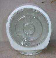 """Vintage Art Deco Light Globe Cover Shade 3 1/8"""" Fitter 5 3/8"""" Tall Bullseye Logo"""