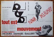 Sonia Delaunay affiche originale offset Tout est mouvement 1975 Bruxelles