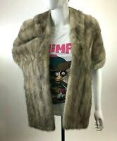 Vtg 50s 60s Wineman's Custom Luxury Mink Fur Cape Wrap w/Fur Authority Label S