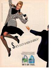 Vintage advertising print ad Fashion hosiery L'EGGS Sheer Energy She's got Leggs