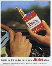 PUBLICITE ADVERTISING 105  1966   WINSTON  cigarettes