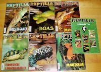 18x Reptilia 1998 1999 2000 komplett Zeitschrift Sammlung Reptilien Terraristik