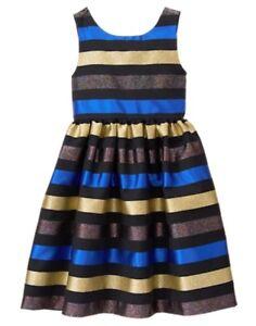NWT Gymboree Fun and Fancy Striped Dress Christmas Girls 4,5,6,7