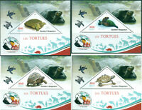 TURTLES AMPHIBIANS FAUNA CHARLES DARWIN MADAGASCAR 2019 MNH STAMP SET 4 SHEETS