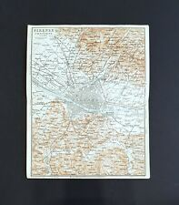 Antique Maps - Florence Italy -1886