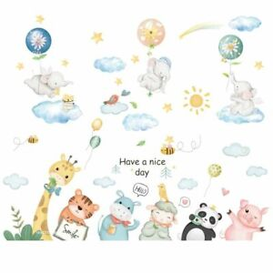 Wall Stickers Nursery Bed Eco Friendly Wallpaper Elephant Mural Home Decoration