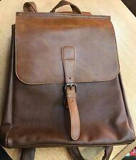 "CORLISS Unisex Backpack Vintage Leather Rucksack College School Laptop 14"" Bag"