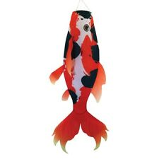 "24"" x 48"" Large Red-Orange Koi Windsock wind garden décor – In the Breeze 5117"