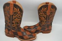 Twisted X Peanut EXOTIC OSTRICH Rancher Cowgirl Boot WESTERN SZ 7 B Square Toe