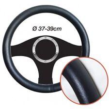 Tapa volante efecto cuero negro Diámetro 37/39cm