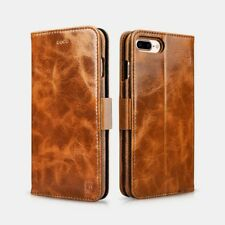 iPhone 7 /8 oil wax Leather détachable 2 en 1 Marron