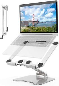 Laptop Stand Desk Adjustable Height, Portable Laptop Stand Foldable, Aluminium
