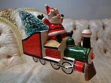 "Holt Howard Christmas ""Santa Express"" Figural Planter w/bottle brush tree"