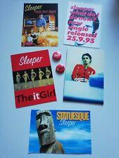More details for sleeper - promotional flyers & rare badges 1990s - brit pop - free posting