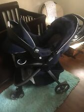Navy Blue Eddie Bauer Stroller, Car Seat & Car Base! Excellent Condition!