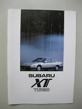 Subaru XT Turbo 4WD brochure Prospekt Dutch text 16 pages 1985