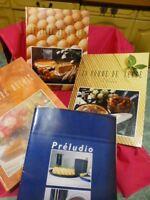 lot =5 livres cuisine recettes divers sur pomme  terre ,oeuf  divers +3 offerts