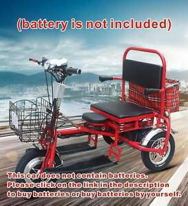 Foldable Portable Electric Mobility Scooter Battery Power Elderly Tricycle