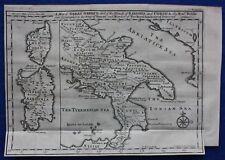 Original Antique Carte du Sud de l'Italie, Sardaigne, Corse, Delisle, E. Bowen, ...