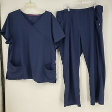 Urbane Ultimate Blue Scrub Set Xxl Top - Xl Pants Plus Healthcare