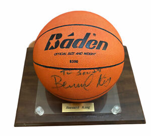 NBA HOF Bernard King Signed Basketball In Case