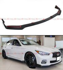 FRONT BUMPER CHIN LIP SPOILER SPLITTER FOR 2014-2017 INFINITI Q50 BASE PREMIUM